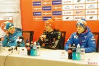 Konferencja prasowa (Stoch, Wellinger, Hayboeck), fot. Katarzyna Skoczek