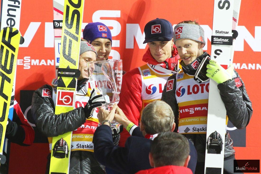 Norwescy dominatorzy (Fannemel, Forfang, Tande, Johansson), fot. Julia Piątkowska