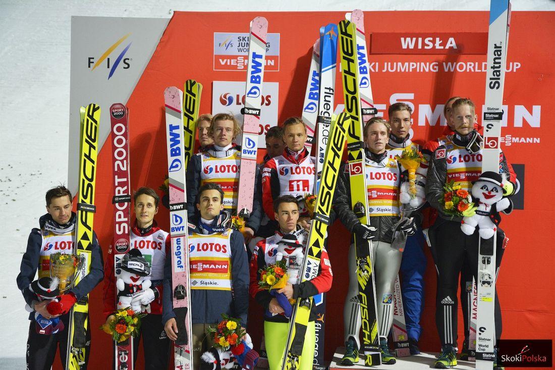 Austriacy, Polacy i Norwegowie na podium (fot. Bartosz Leja)