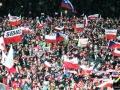 Kibice na skoczni w Wiśle (fot. Julia Piątkowska)