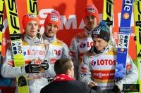 Polscy skoczkowie na podium w Zakopanem, fot. Julia Piątkowska