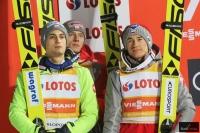 Polscy skoczkowie na podium w Zakopanem (fot. Julia Piątkowska)