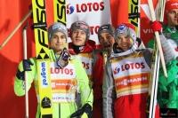 Maciej Kot, Kamil Stoch, Piotr Żyła, Kamil Stoch (fot. Julia Piątkowska)