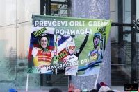 Transparent fanklubu słoweńskich skoczków (fot. Julia Piątkowska)