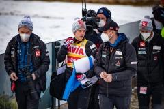 Halvor Egner Granerud i trener Alexander Stoeckl (fot. Daniel Maximilian Milata / Maxim's Sports)