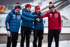 Polska drużyna, od lewej: Stoch, Twardosz, Karpiel, Kubacki (fot. Daniel Maximilian Milata / Maxim's Sports)