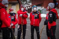 Austriacka drużyna, od lewej: Pinkelnig, Fettner, Tschofenig, Iraschko-Stolz (fot. Daniel Maximilian Milata / Maxim's Sports)