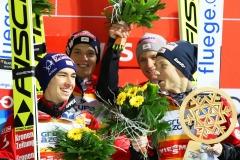 Zwycięzcy konkursu, Austriacy - Kraft, Aschenwald, Huber, Hoerl (fot. Julia Piątkowska)