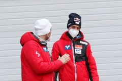 Andreas Widhoelzl i Gregor Schlierenzauer (fot. Julia Piątkowska)