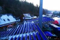 Trybuny na skoczni w Wiśle (fot. Magdalena Janeczko)