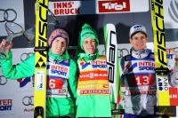 Podium zawodów (od lewej: Freund, Prevc, Gangnes), fot. Julia Piątkowska