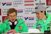 Severin Freund i Peter Prevc, fot. Julia Piątkowska
