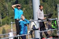 Stefan Horngacher i Michal Dolezal w gnieździe trenerskim, fot. Julia Piątkowska