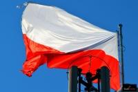 Polska flaga na skoczni w Wiśle, fot. Bartosz Leja