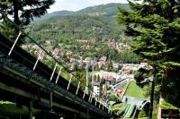 Widok ze skoczni w Szczyrku (fot. Magdalena Janeczko)