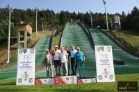 Olimpijczycy na skoczni w Szczyrku, fot. Julia Piątkowska