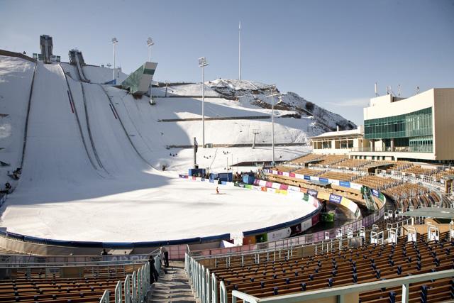 almaty gorneygigant skisprungschanzen - Kazachstan - skocznie