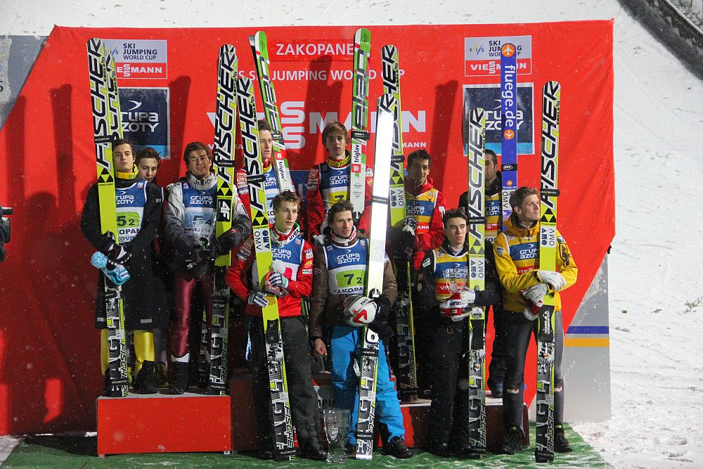 zakopane2013teampodium - Polacy - drużyna na medal