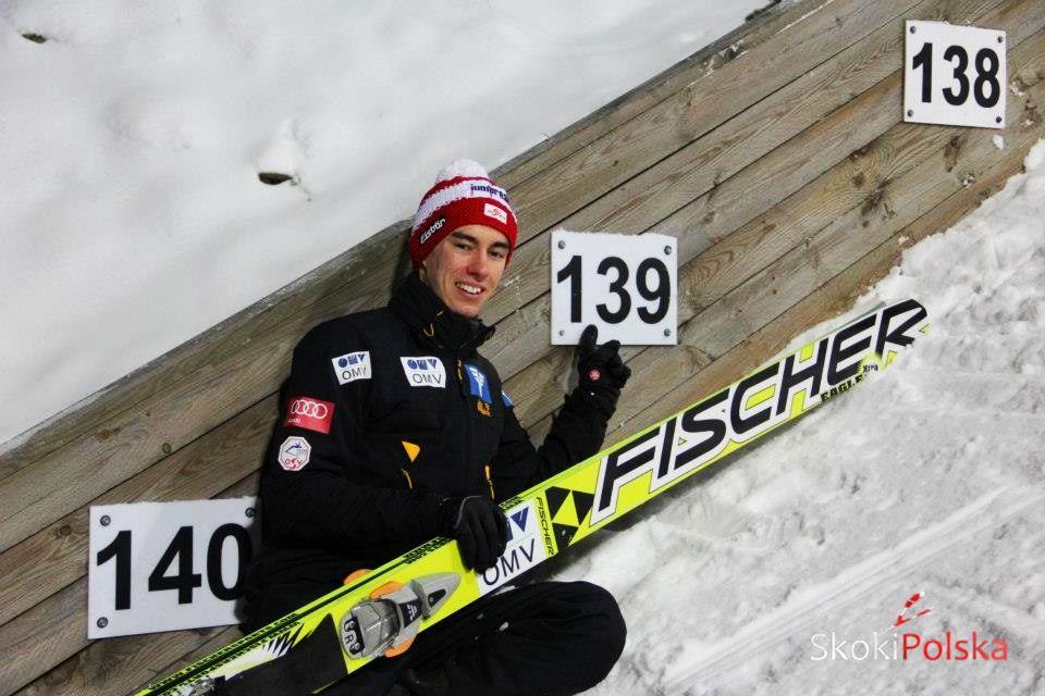 Stefan Kraft - zwycięzca tegorocznych zawodów i zeszłoroczny rekordzista skoczni w Wiśle, fot. Stefan Piwowar
