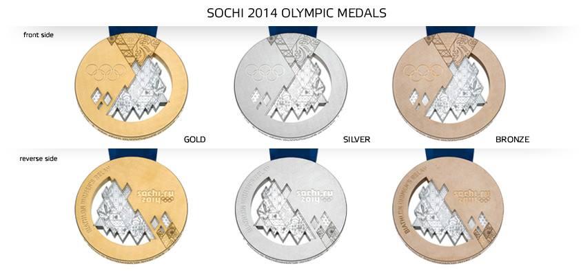 medale soczi2014 - OLIMPIJSKIE KRĄŻKI ZAPREZENTOWANE!