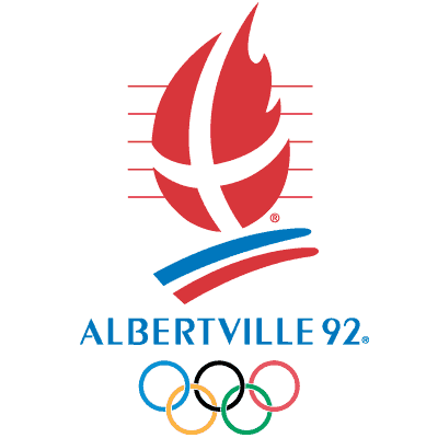 Albertville 1992 logo - Zimowe Igrzyska Olimpijskie - ALBERTVILLE / COURCHEVEL 1992 (skocznia duża indywidualnie)