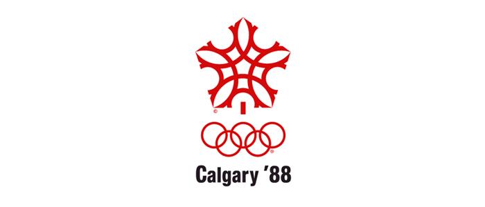 Calgary 1988 logo - Zimowe Igrzyska Olimpijskie - CALGARY 1988 (skocznia duża indywidualnie)