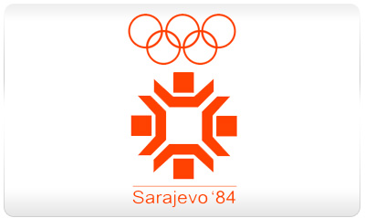 Sarajewo 1984 logo - Zimowe Igrzyska Olimpijskie - SARAJEWO 1984 (skocznia duża indywidualnie)