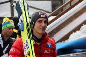 Gregor Schlierenzauer odda pierwszy skok na nowym mamucie w Kulm