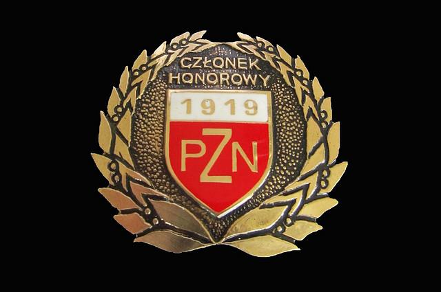 odznaka czlonek.honorowy.pzn - PZN UHONOROWAŁ OSOBY ZASŁUŻONE DLA POLSKIEGO NARCIARSTWA