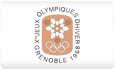 Grenoble 1968 logo - Zimowe Igrzyska Olimpijskie - GRENOBLE 1968 (skocznia duża indywidualnie)