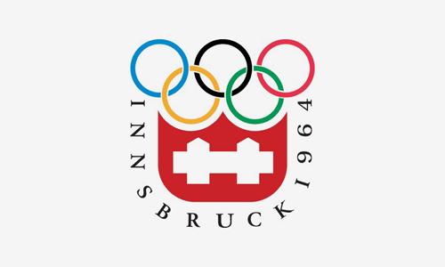 Innsbruck 1964 logo - Zimowe Igrzyska Olimpijskie - INNSBRUCK 1964 (skocznia duża indywidualnie)