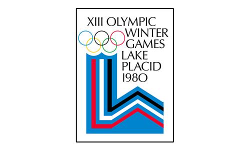 Lake Placid 1980 logo - Zimowe Igrzyska Olimpijskie - LAKE PLACID 1980 (skocznia duża indywidualnie)