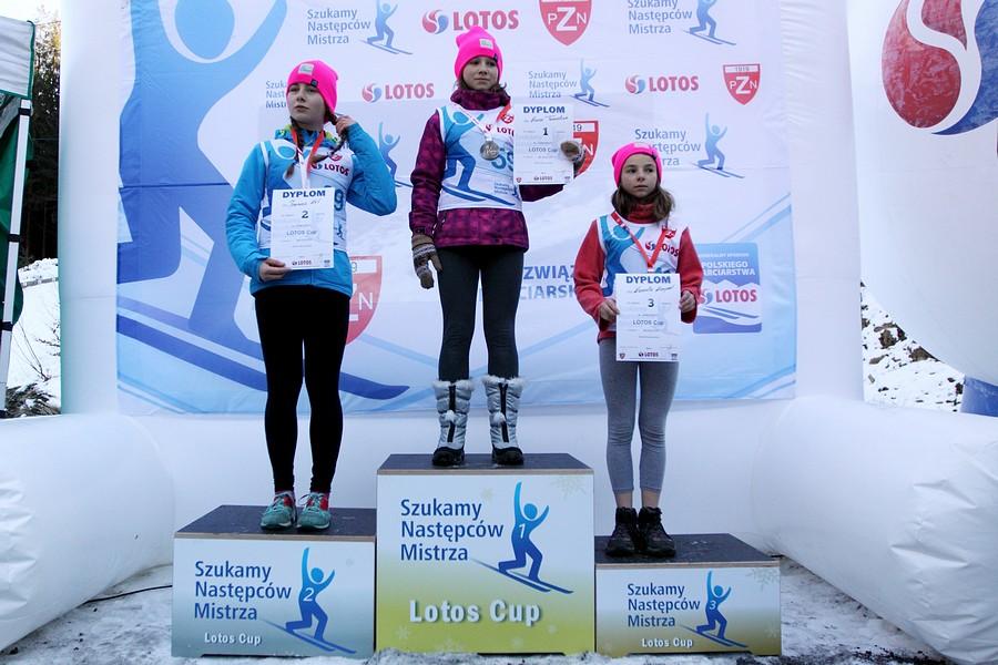 Podium kategorii młodziczek (od lewej: Joanna Kil, Anna Twardosz, Kamila Karpiel), fot. Alicja Kosman