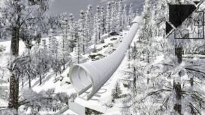 Projekt tunelu na rozbiegu Wielkiej Krokwi w Zakopanem, wizualizacja: Archigeum