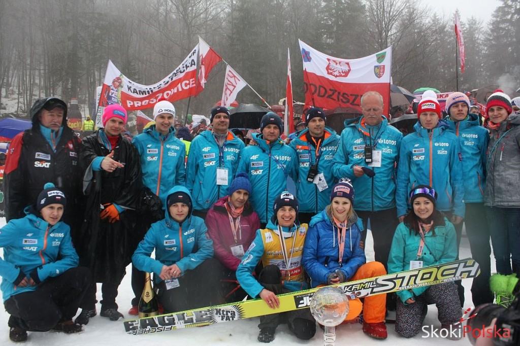 Polska drużyna wraz z Kamilem Stochem - Planica 2014 r., fot. Julia Piątkowska