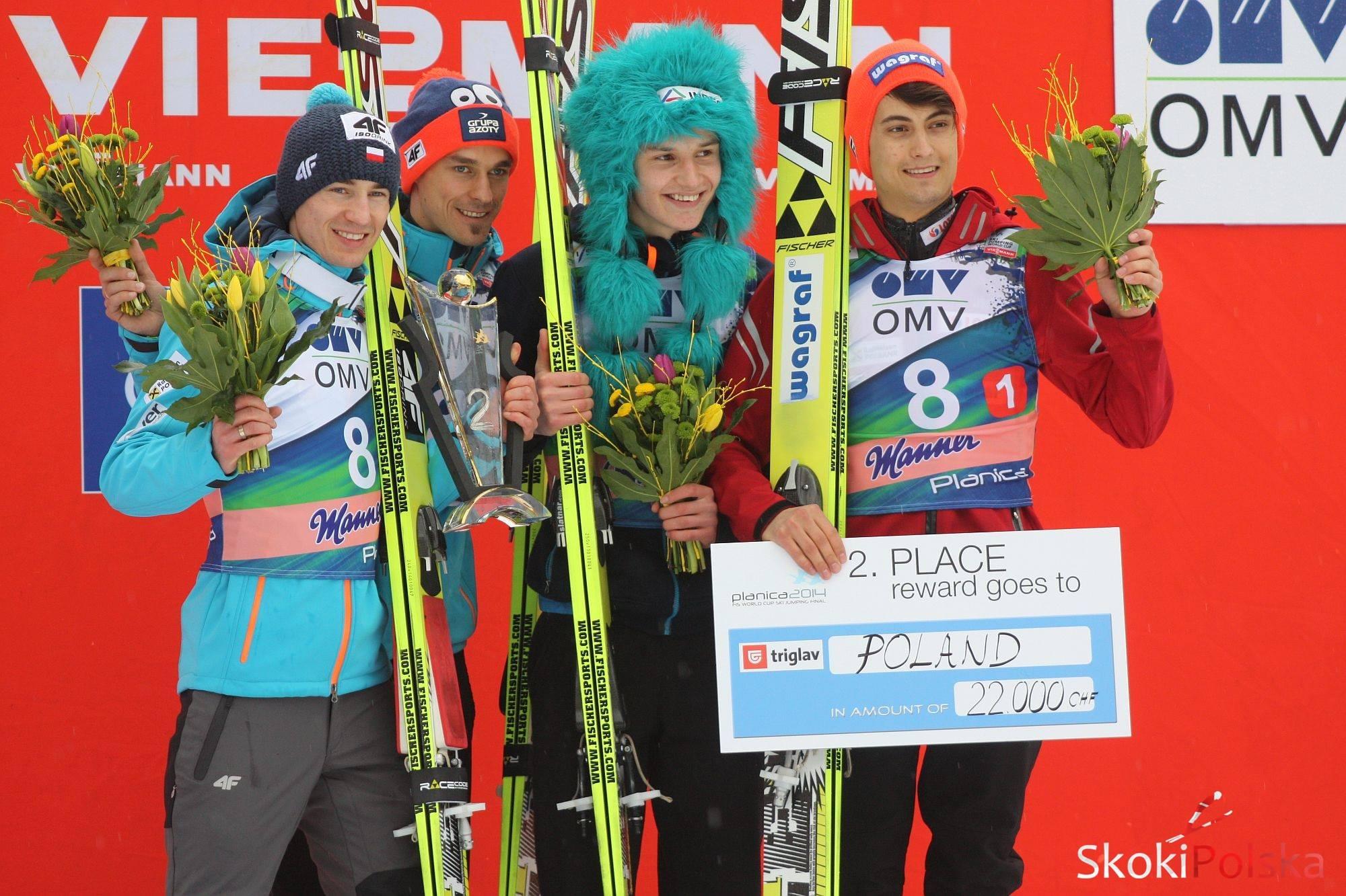 polacy podium - Najlepsi skoczkowie zarobią więcej zimą