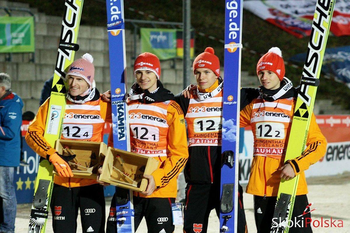 """Niemcy Team J.Piatkowska - PŚ Zakopane: Niemcy prowadzą w """"drużynówce"""", Polacy na piątym miejscu"""