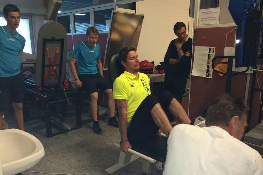 Ahonen Ylianttila trening fot.finnjumping.fi  - FINOWIE ROZPOCZĘLI PRZYGOTOWANIA DO SEZONU