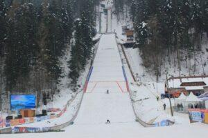 Skocznia w Ljubnie w zimowej odsłonie, fot. SSK Ljubno / BTC Tanja Fricelj