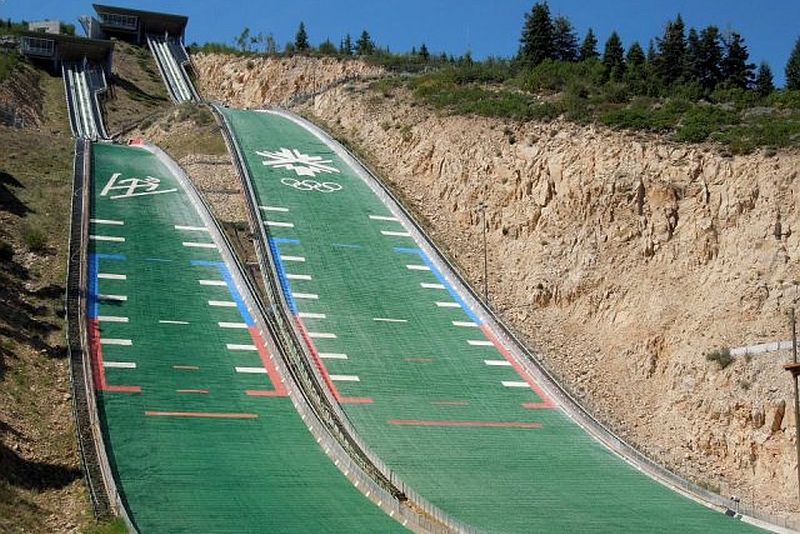 Park.City Utah.Olympic.Park .Jumps fot.USA .Ski .Jumping - Stany Zjednoczone - skocznie