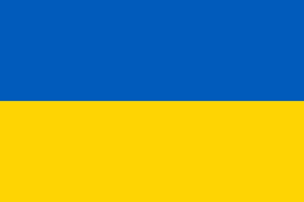 Ukraina flaga - Skocznie narciarskie