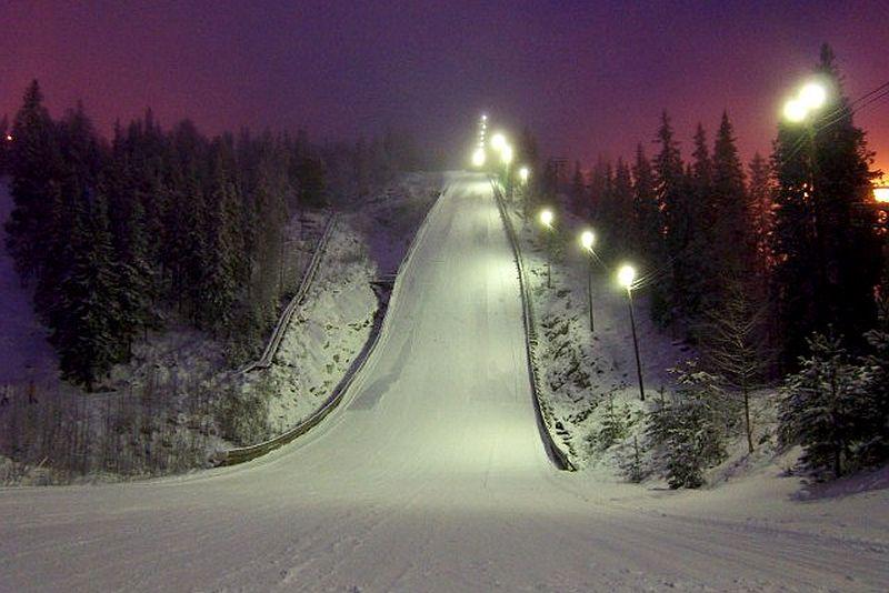 Skocznia K-90 (HS-100) w Vuokatti, fot. Japan Nordic Combined / skisprungschanzen.com