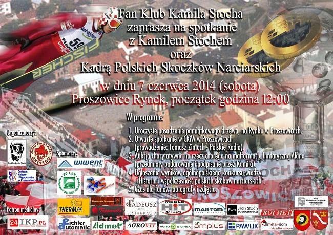 Zaproszenie Proszowice 7.06.2014 - POLSCY SKOCZKOWIE SPOTKAJĄ SIĘ z FANAMI w PROSZOWICACH