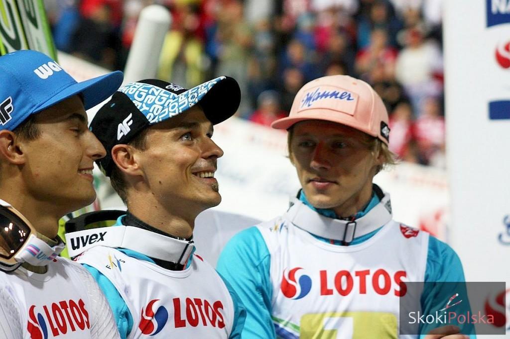 Maciej Kot, Piotr Żyła i Dawid Kubacki, fot. Julia Piątkowska