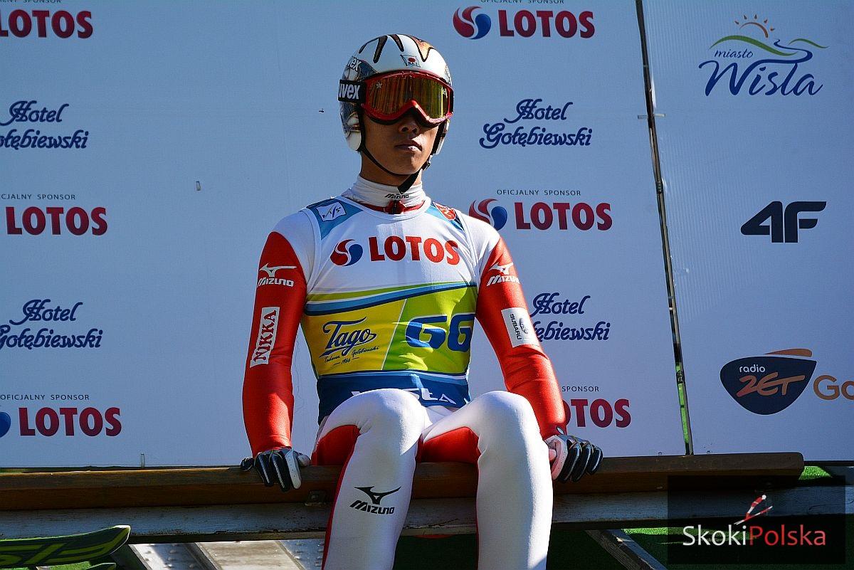 Takeuchi Taku.belka .wisla fot.Bartosz.Leja  - Takeuchi, Ito i Takanashi wygrywają zawody w Sapporo