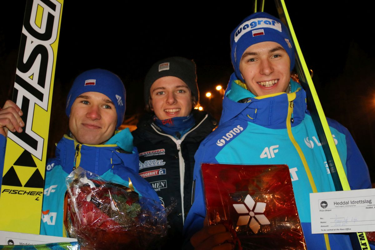 Stekala.Bjoereng.Leja FC.Notodden fot.hoppski.no  - FIS Cup Notodden: druga wygrana Bjoerenga, Stękała i Leja na podium !