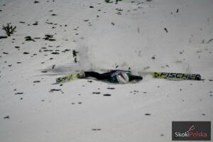 Upadek Simona Ammanna w Bischofshofen, fot. Julia Piątkowska