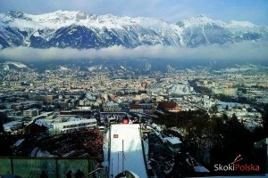 Widok ze szczytu 'Bergisel' w Innsbrucku (fot. Julia Piątkowska)