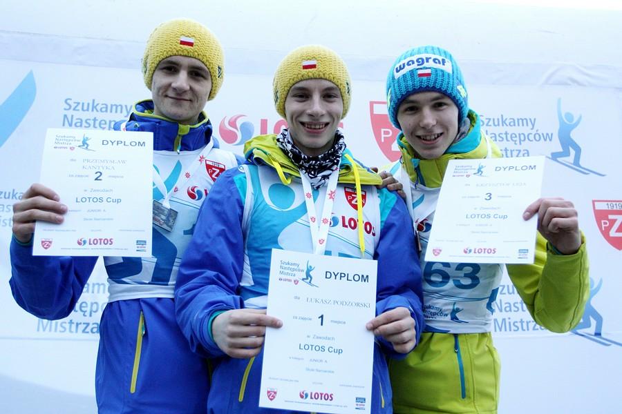 Podium w kategorii Junior A (Kantyka, Podżorski, Leja), fot. Alicja Kosman