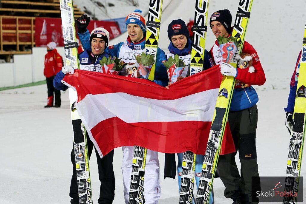 Czterech Austriaków poskacze w Wiśle